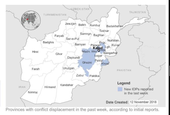 More than 200,000 Displaced Persons in Afghanistan in 2018