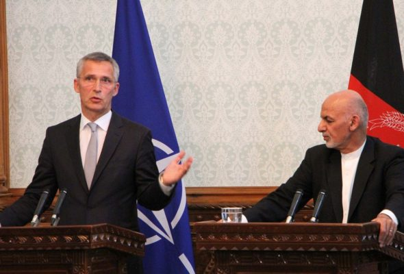 As Prez Ghani Points to Terrorist Networks Being Based in Pak, NATO Secretary General Calls on Taliban to End the War