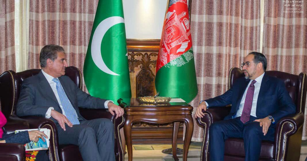 Acting Foreign Minister Meets Pak FM Qureshi, Emphasises on Afghan Government's Direct Talks with Taliban