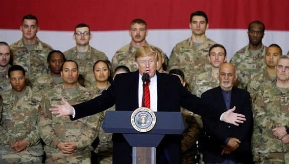 Trump Makes Suprise Visit to Afghanistan on Thanksgiving, Says Taliban Talks Back on