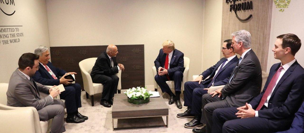 Trump Met Ghani in Davos, Stressed on Reduction of Violence