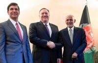 President Ghani Met Pompeo, Esper on Cusp of Taliban Deal