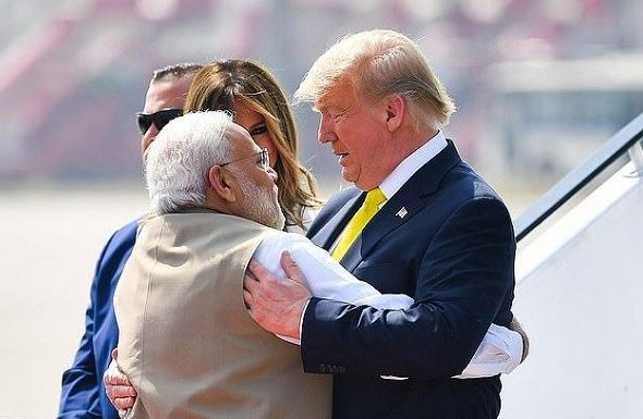 Trump Arrives in India for First Visit as President
