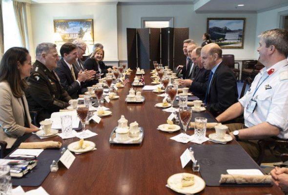 U.S., U.K. Leaders Discuss  Afghan Peace in Pentagon Meeting