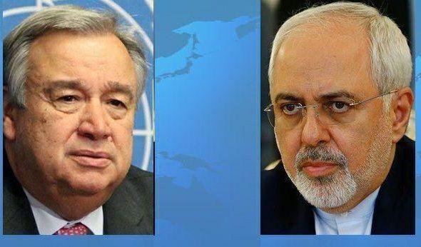 Iran FM, UN Chief Discuss Afghanistan Crises