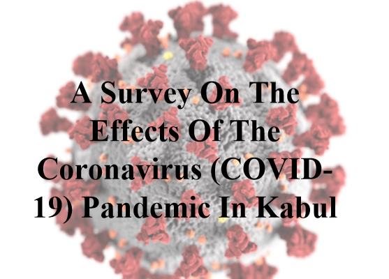 Exclusive: Majority of Kabul Citizens Worried About Contracting Coronavirus