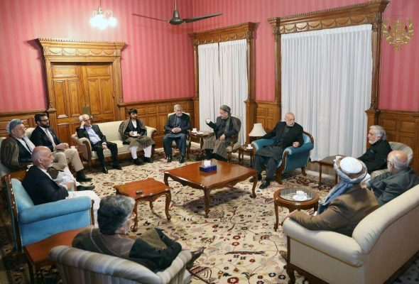 Photo of Only-Male Politician's Meeting with Ghani Goes Viral