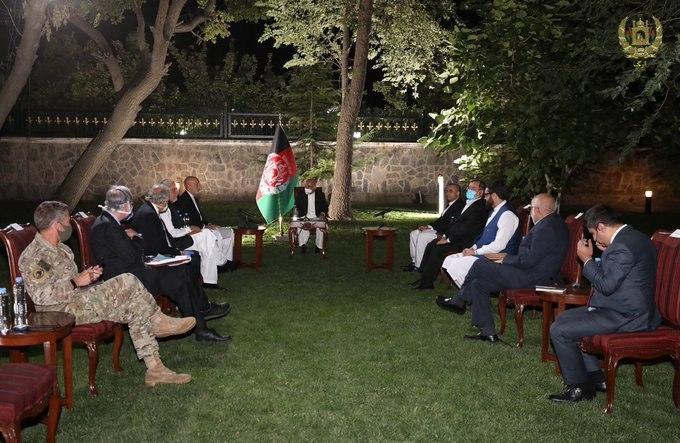 Khalilzad Meets Ghani, Abdullah, Karzai And VPs To Encourage Start Of Direct Talks