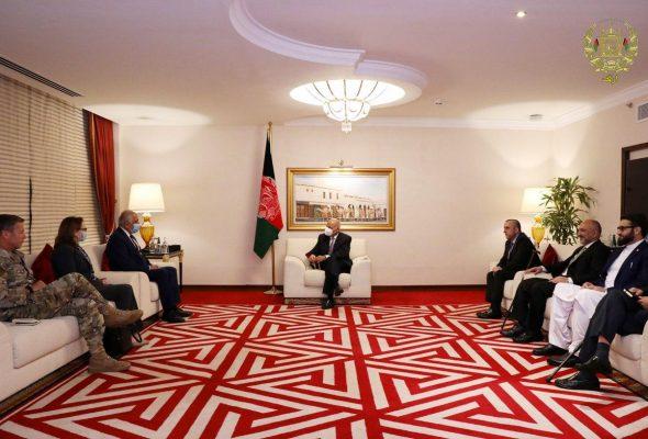Ghani, Khalilzad, Gen Miller Discuss Afghan Peace And Taliban Violence