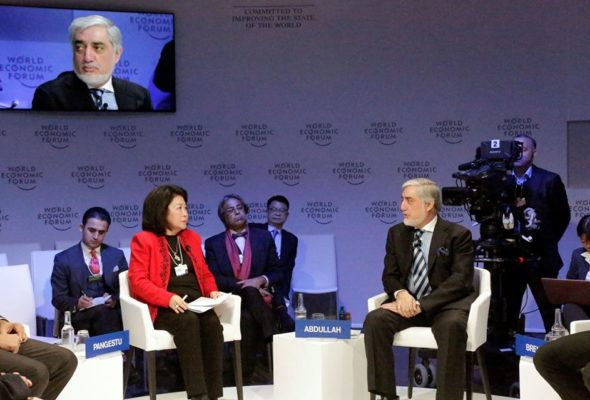 """At WEF in Davos, CE Abdullah Urges World to not """"Give up"""" on Afghanistan"""