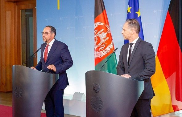 """FM Rabbani Meets his Counterpart in Germany, Expresses """"Afghanistan After Peace Shall be Different"""""""