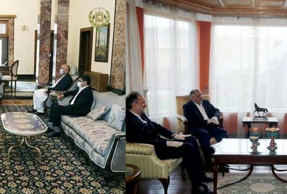 Iranian Official Confer With Ghani & Abdullah