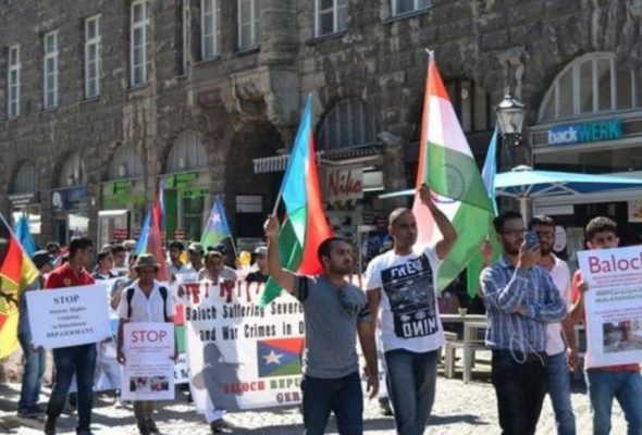 Baloch Activists Protest In Germany Against human Rights Violations In Pakistan