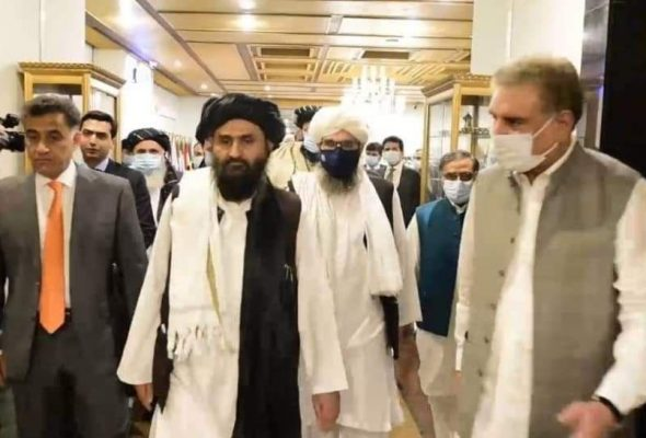 Pakistan's FM Qureshi Meets Taliban Delegation To Discuss Intra-Afghan Talks