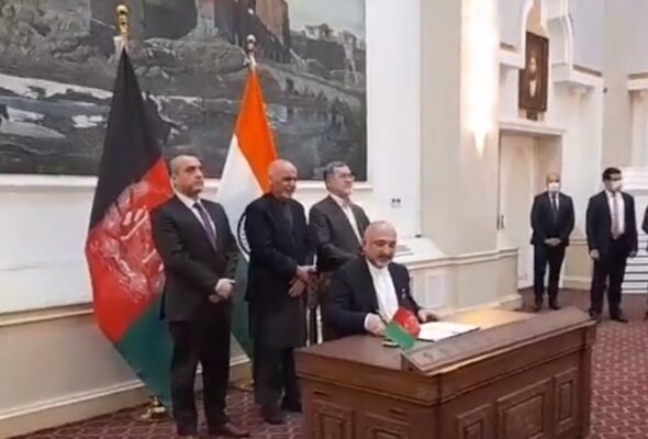 Afghanistan, India Signed Agreement on Shahtoot Dam Project