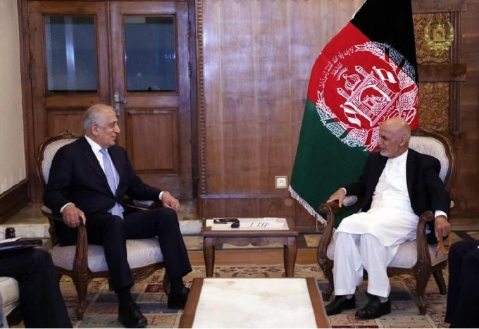 President Ghani Met US Peace Envoy Khalilzad, Discussed Next Steps in Peace Process