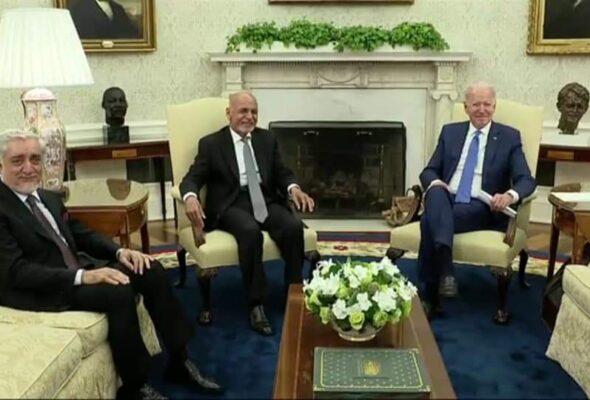 Biden, Ghani Meet: Troop Withdrawal, Peace Process Discussed